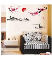 2 3 days wst019 classic oriental painting wall art sticker