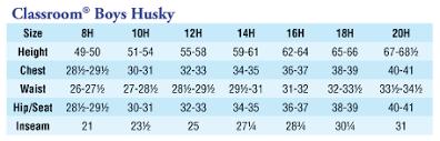 Boys Husky Size Chart Br Revenge Of The Husky