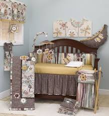 amazing baby bedding design with cute decoration feels so charming brown fl crib bedding set