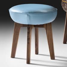 contemporary walnut designer stool  juliettes interiors  chelsea
