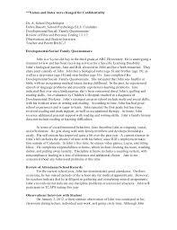 exampleiep psychological report psychological report pages  psychological report example iep example iep