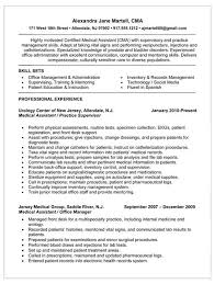 Certified Medical Assistant Resume Gorgeous Resume For Certified Medical Assistant Resume For Certified