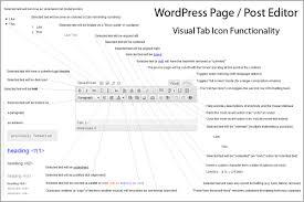 WordPress         Post or Page Editing     The Visual Tab