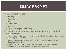 literary analysis essay first they killed my father ppt 2 iuml130iexcl survival