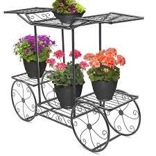 details about garden stand flower pot plant cart holder display rack 6 tiers outdoor decor