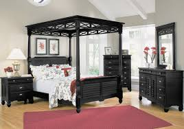 black bedroom furniture wall color. Extraordinary Black Bedroom Furniture Matched With White Accent Wall Color Furnished Queen Bed Applying Canopy