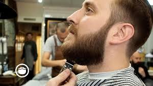 Slicked Back Mens Haircut With Beard Trim Youtube