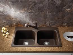 drop in kitchen sink. Picture Of Blanco 400307 Vision 210 1-Hole Double Bowl Drop-In Kitchen Sink Drop In