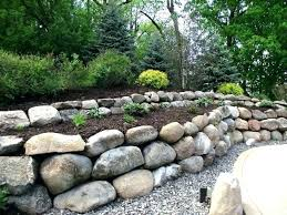 boulder retaining wall cost boulder retaining wall cost boulder retaining walls residential b grade sandstone retaining