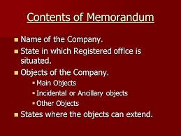 Image result for memorandum of association image
