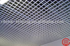 Decorative Tiles To Hang Indoor Building Ventilative Decorative Hang Grid Ceiling Tiles 45