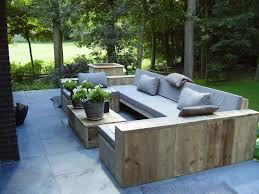 Chic Outdoor Sofa Wood 1420 Best About Outdoor Furniture