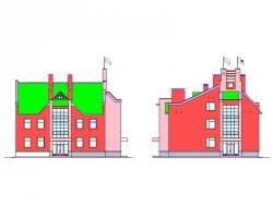 Купить дипломный Проект № Трехэтажное здания лыжной базы со  Проект №1 140 Трехэтажное здания лыжной базы со встроенными витражами в посёлке Ува