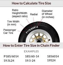 Snow Cable Size Chart Quality Chain Corp Snow Tire Chains From The Largest Tire