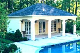 Pool House Designs A Rustic Stone Small Pool House Plans With