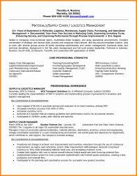 Management Resumes Fresh Supply Chain Resume Of X Awesome Supply Chain Resume