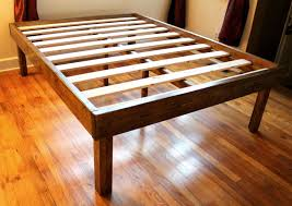 minimalist bed frame bed with nightstands attached diy bed frame