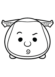 Disney Tsum Tsum Coloring Pages Thewestudio