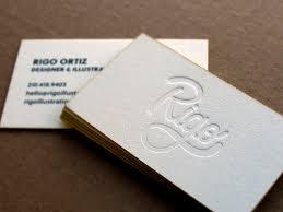 Letter Press Business Card Letterpress Business Cards Design Examples Design