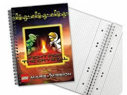 Bricklink Gear 5841c Lego Notebook Mars Mission Graph Paper