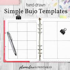 Journal Templates Versatile Bullet Journal Templates With Watermark Graph Printable Hand Drawn Planner Pages Letter A5 Classic Hp Sizes Instant Download