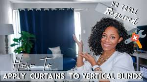 how to hang curns over vertical