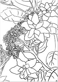 梅雨の時期の大人の塗り絵紫陽花の花無料テンプレート 無料