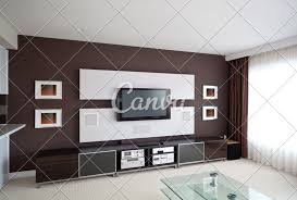 Wall Design For Flat Screen Tv Modern Home Theater Room Interior With Flat Screen Tv