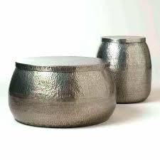 hammered silver coffee table silver drum table hammered drum coffee table living room end table hammered drum table and coffee hammered silver round coffee