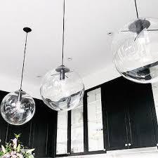 glass ball pendant lighting. stylish clear glass globe pendant light lighting ideas large ball