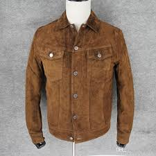 luxury matte velvet wild boar leather jackets men s genuine leather export top quality handmade slim jackets factory black jacket fleece jackets from
