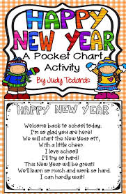 Chart On Happy New Year Happy New Year Pocket Chart Activity Welcome Back To