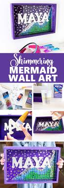 collage of images to make a shimmering mermaid wall decor idea on personalized photo collage wall art with shimmering personalized mermaid wall decor sustain my craft habit
