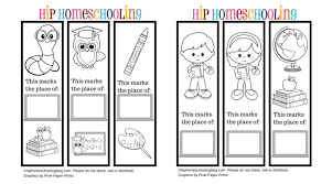 Instructions to download these printable bookmarks to color: Free Printable Bookmarks To Color And Personlize
