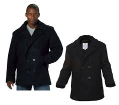 wool us navy type mens coat pea coat black by rothco all sizes from xs