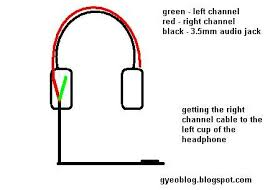 how to modify a 2 sided wire headphone to 1 sided wire headphone start2 pic jpg