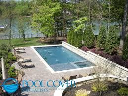 Interesting Rectangular Pool Designs With Spa Swimming Pools Hot Tub In Sun Ledge Decorating