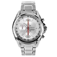 seiko chronograph titanium bracelet mens watch snde57p1