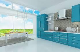 ideas blue kitchen decor pinterest cool blue kitchen design with kitchen cabinet and white rectangular di
