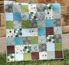 212 best Quilts - For boys images on Pinterest | Beach crafts ... & All Star Boy Quilt Blue Green Patchwork Brown Crib Bedding Adamdwight.com