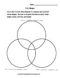 Venn Diagram Of Geometric Shapes Triple Venn Diagram Math Shapes Triple Diagram 3 Circle Venn