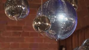 mirror disco on a party indoors hd stock clip