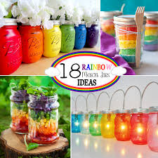 Mason Jar Decorations 18 Rainbow Mason Jar Ideas The Scrap Shoppe