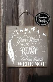 your wings were ready memorial gift memorial plaque bereavement gift bereavement sympathy gift sympathy