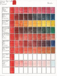 M Graham Color Chart Gouache Color Mixes Cadmium Red Pr108 M Graham Allen