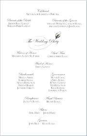 Example Wedding Programs Showing Christian Ceremony Program Template