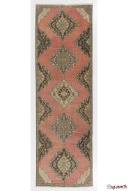 antique washed runner rug 3 8 x 11 5 112 x 350 cm red brown and green color vintage overdyed runner rug turkish overdyed runner rug
