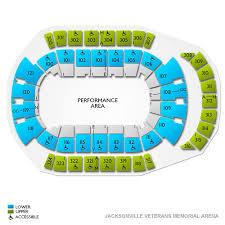 Vystar Veterans Arena Seating Chart Vystar Veterans Memorial Arena 2019 Seating Chart