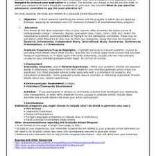 Sample Resume For Graduate School Application Objective Archives ...