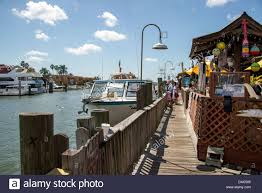 An outdoor restaurant in naples harbor florida fl usa